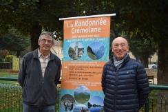 Jean-Claude GACON, Président de La Randonnée Crémolane et Alain MOYNE-BRESSAND, Maire de Crémieu
